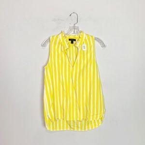 J. Crew yellow & white striped sleeveless blouse 4